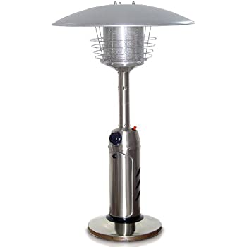 This Item Garden Sun GS3000SS Table Top 11,000 BTU Propane Powered Patio  Heater With Push Button Ignition, Stainless Steel