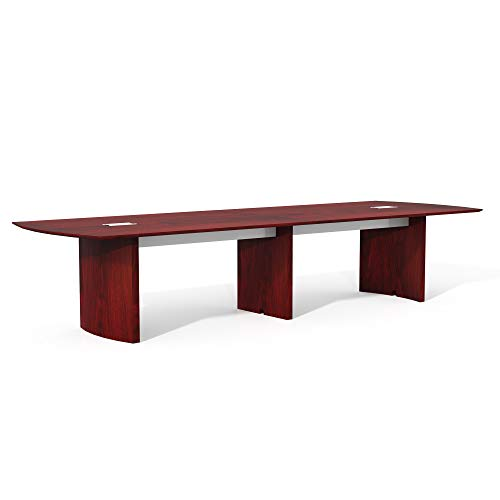 Safco Products Mayline MNC12LMH Medina Conference Table, 12', Mahogany Laminate