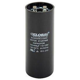 Motor Start Capacitor, 110-125 Volt, 540-648 Mfd