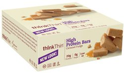 Think Thin Caramel Fudge 10 Bars