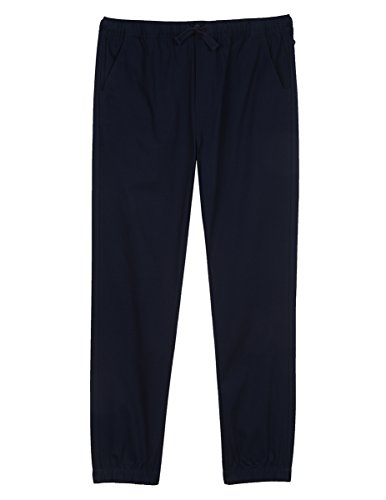 IZOD Uniform Men's Stretch Jogger Pant, Navy, Large