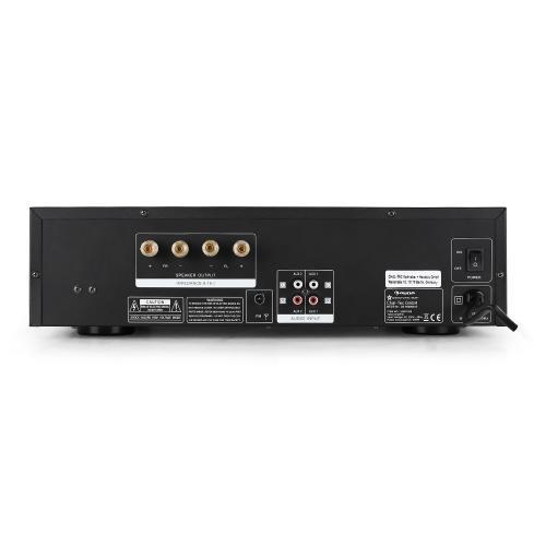 Auna Tube 65 Hogar Alámbrico Negro - Amplificador de audio (75%, 75 dB, 20-20000 Hz, Terminales de abrazadera, 425 mm, 260 mm): Amazon.es: Electrónica