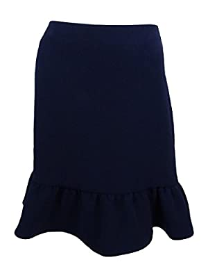 Tommy Hilfiger Womens Ruffled Fit & Flare Flounce Skirt