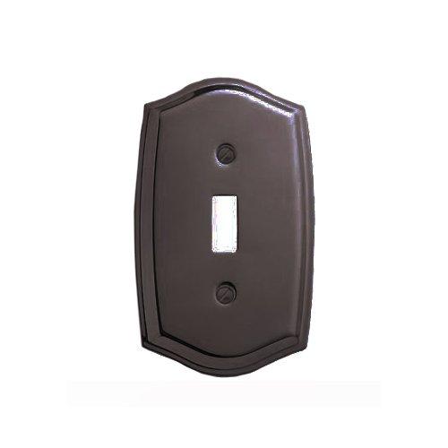 Baldwin 4756.112.CD Colonial Design Single Toggle Switch Plate, Venetian Bronze (Colonial Design Single)