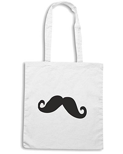 T-Shirtshock - Bolsa para la compra TDM00178 mustache Blanco