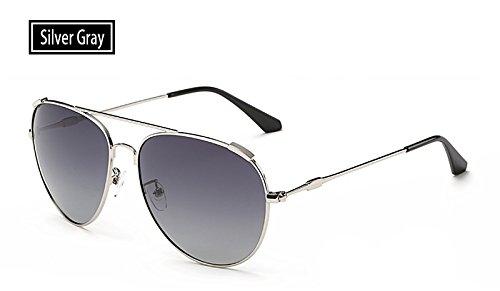sol libre hombres al sol pesca polarizadas gafas oro Sunglasses gris de UV400 gafas mujeres TL aire de guía de grey silver deportivas Gafas FwqtPXfO