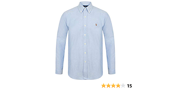 Ralph Lauren Polo Hombre Slim Fit Stretch Oxford Camisa Manga ...