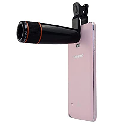 58a0d87e945c26 Rewy Universal 12X Zoom Mobile Phone Telescope Lens with Adjustable Clip  Holder- Assorted Color