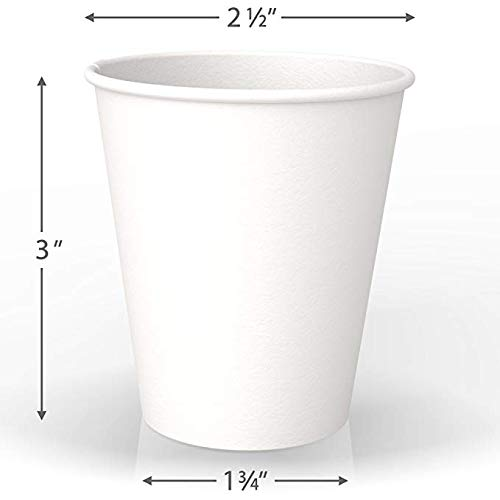 6oz Coffee Cup with White Sip Thru LidsPaper Hot Coffee Tea Drinking CupsW