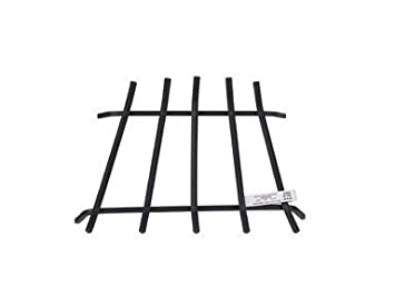 Home and Kitchen Heating Cooling Air Quality Parts Accessories Stove Fireplace Grates 1 2 inches square steel bars|Fits Zero clearance fireplaces|Welded|No-tip|Painted black