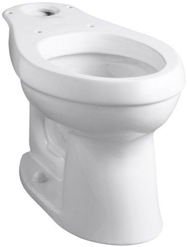 Kohler Elongated Urinal - Kohler K-4309-0 Cimarron Comfort Height Elongated Toilet Bowl, White