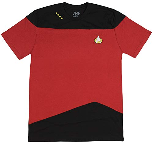 (Star Trek: The Next Generation Uniform Adult T-Shirt - Command Red)