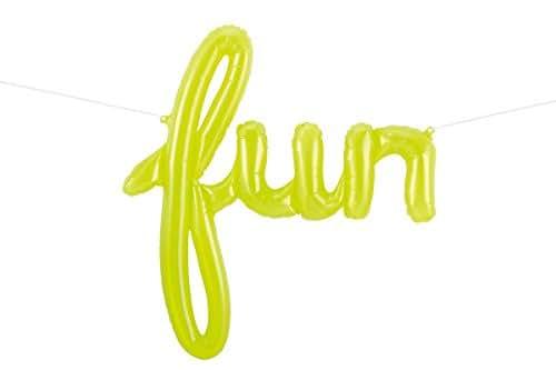 "43"" Lime Green Fun Script Balloon"