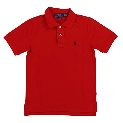 Polo Ralph Lauren Boys Mesh Polo Shirt (Small (8), Classic Red) -