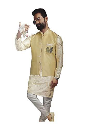 11 Facioun Wear Cream Partywear Mens Designer Indian Ethnic Da Traditional Fzw6Fq