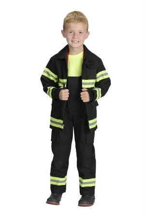 Aeromax Jr. LOS ANGELES Fire Fighter Suit, Black, Size 2/3.  The best #1 Award Winning firefighter suit.  The most realistic bunker gear for kids everywhere.  Just like the real gear!]()