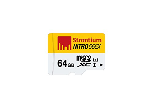 Strontium Nitro 64GB 85MB/s UHS-1 Class 10 microsdhc Memory card (without adapter/card reader)