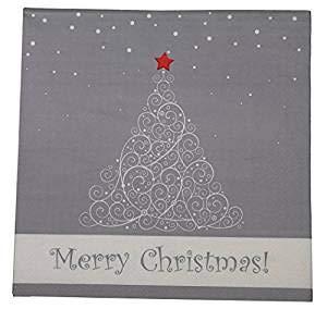 khevga 80 Christmas Paper Napkins Christmas-Napkins 3 layer Pack of 40 or 80 (Set of 80)