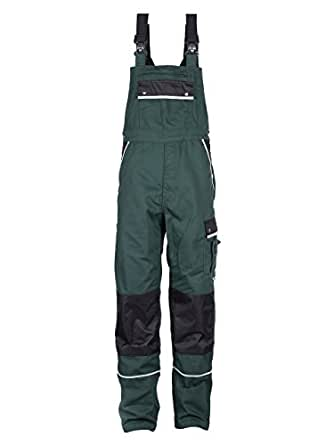 TMG® - Mono de trabajo para jardinero - Resistente con pechera y rodilleras - Verde (W28 R / EU44)
