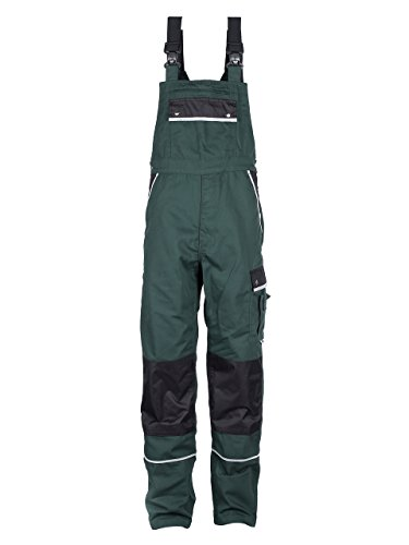 Heavy Duty Bibs (TMG Heavy Duty Work Bib and Brace Overalls Dungarees With Knee Pads Pockets Green 64)