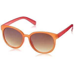 MLC Eyewear Candy Color Round Sunglasses Round Sunglasses,Orange & Pink,52 mm