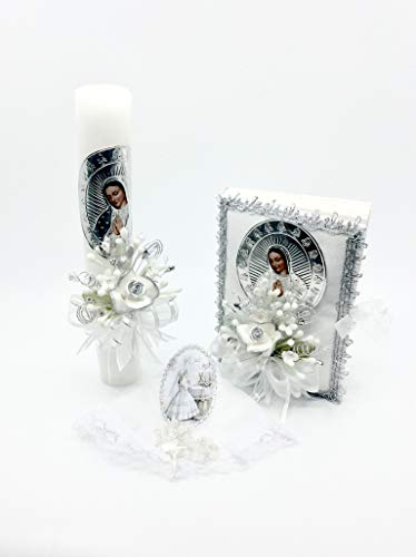 Casa Ixta First Communion Candle Lady of Guadalupe ()