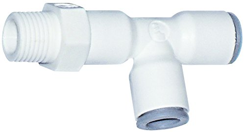 Parker Hannifin 6503 56 14WP2 LIQUIfit Polymer Body Swivel Run Tee Fitting, 1/4