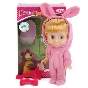 Masha and the Bear Doll Masha Sings 15cm (5.9 inch ) Russian Language! Dressed as a Hare Toy Dress Doll, The Famous Cartoon,a Soft Gift, Girl, Birthday Interactive from Masha and the Bear