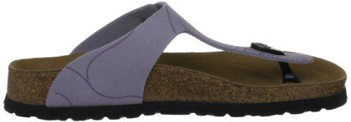 Papillio Gizeh Birkoflor Regular Manmade Nubuck, Sandales femme Violet - Lilac (Minimal Grey) Circles Design