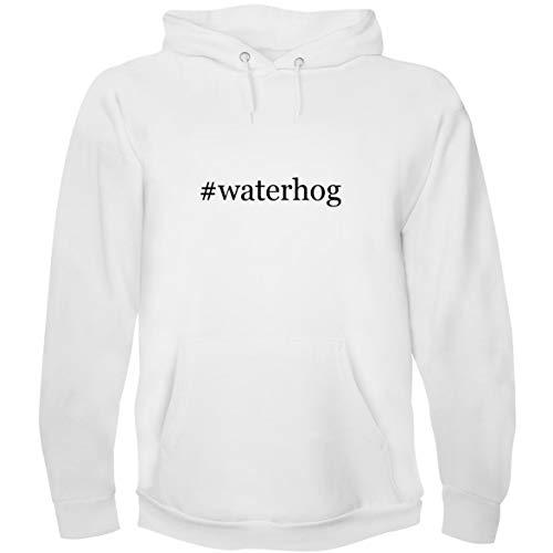 (The Town Butler #waterhog - Men's Hoodie Sweatshirt, White, X-Large)