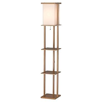 Adesso Barbery 3451 Shelf Floor Lamp - Oak