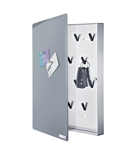 Blomus Velio Glass Magnet Board with Hook Organizer