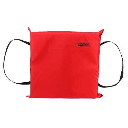 SEACHOICE 44920 Foam Emergency Marine Flotation Cushion 15-Inch x 15-Inch, Red ()