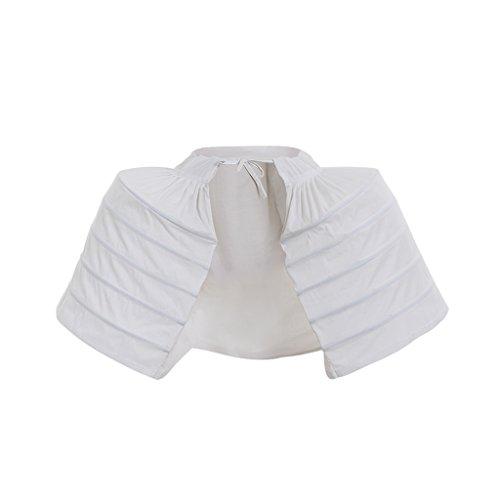 DUNHAO COS Women's White Crinoline Pannier Underskirt Dress (Double)]()