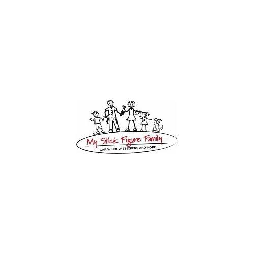 My Stick Figure Family sticker Famille autocollant voiture Femme sportive F2 good