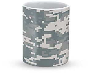 Stylizedd Mug 11oz Ceramic Mug Digital Camo