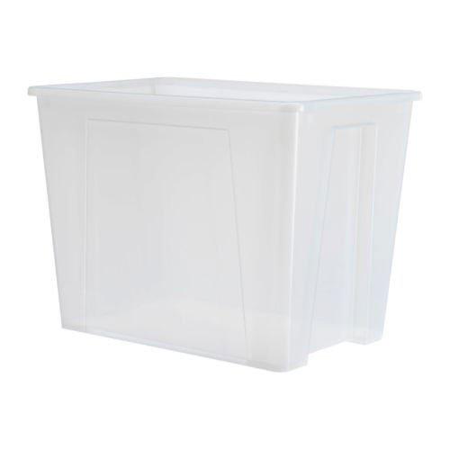 Ikea Samla Box 65 Liter Transparent Amazon De Kuche Haushalt