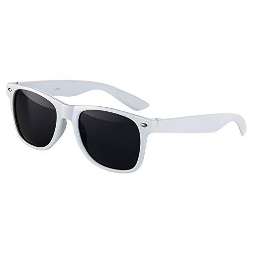 STYLE de Lunette UV Retro 400 Blanc Soleil Norme Vintage Lunettes Nerd UV®400 Ciffre gaqEIg