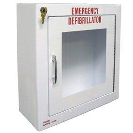 20 Gauge Metal Large Defibrillator AED Cabinet With Alarm - 17-1/2