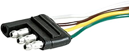 Camco 64839 12 Long 4-Way Wishbone Trailer Harness Male Plug