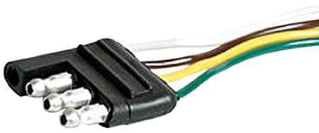 Camco 64839 12' Long 4-Way Wishbone Trailer Harness Male Plug 37310173