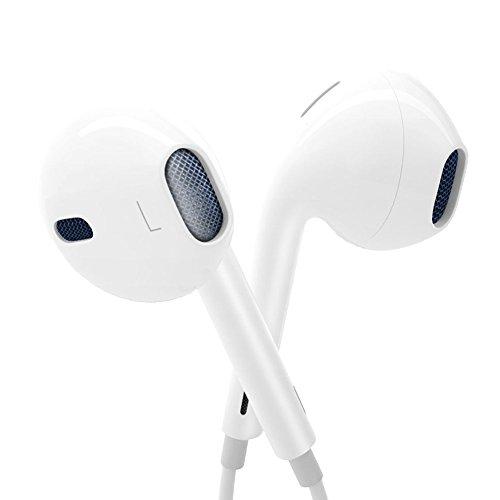 Earbuds, Nonoco iPhone In Ear Headphones With Mic Microphone Remote Earphones for iphone 6s 6 Plus 5s 5 se 5s 4s 4 IOS 7 8 9 10 X Note iPad iPod 1 2 3 S8 S7 S6 Earphones