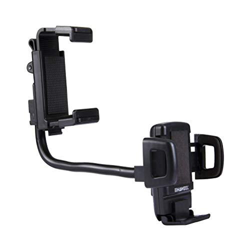 (UKCOCO Car Mount Holder, Multifunctional Car Rearview Mirror Mount Mobile Phone Stand Holder Bracket Compatible Samsung Note, and Galaxy S9 S8 iPhones Xs Xr Xs Max X 8 GPS)