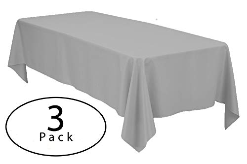 Minel Disposable Party Table Cloths Rectangular 3 Pack