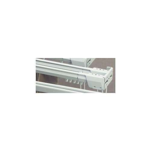 """Superfine Double Traverse 48""""-86"""" Two-Way Draw Curtain Rod"""