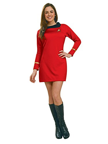 Star Trek Womens Classic Deluxe Red Dress Costume -