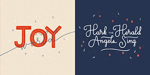 - Christmas Carols 10-Pack Christmas Cards: Joy to the World and Hark the Herald Angels Sing