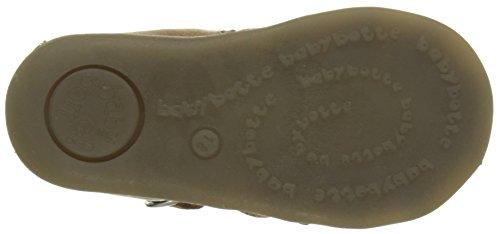 babybotte Guppy5 - Zapatos de primeros pasos Bebé-Niñas Marrón (Miel)