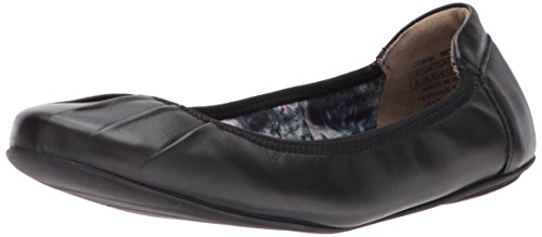 Rockport Women's Rebecca Pleated Ballet Flat, Black Leather, 7 M (Black Pleated Shoes)