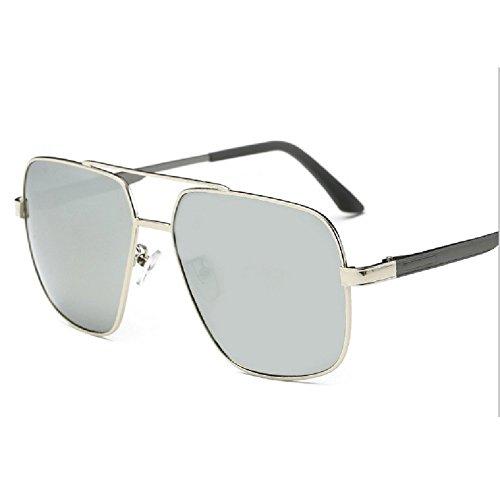 WANJUN Polarized Sunglasses Retro Travel Driving Sports Sunglasses For Men And Women 2017(8084) (Silver frame ()
